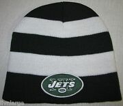 New York Jets Beanie Skull Cap Classic Mlb Patch/logo Green And White New
