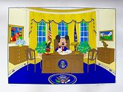 Disney Mickey Mouse For President Limited Edition Serigraph Art Oval Office Desk