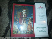 17 Hallmark Christmas Cards And Envelopes Santa Claus And Kids Boxed Set Vintage New