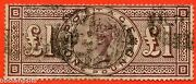 Sg. 186. K16. Bb . Andpound1.00 Brown - Lilac. A Good Used Example.