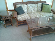 Wicker Living Room Or Sun Room/porch Furniture 6 Piece