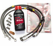 Ducati 1098 1098s Front And Rear Brake Lines Hel Performance + Brembo Fluid