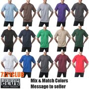 Lot 12 Pack Pro Club T Shirts Proclub Mens Heavyweight Short Sleeve Big And Tall