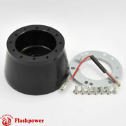 6 Bolt Steering Wheel Adapter Gm Buick Pontiac Chevy Ididit Flaming River Black