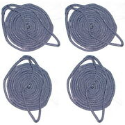 4 Pack Of 3/8 Inch X 6 Ft Navy Blue Double Braid Nylon Fender Lines For Boats
