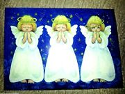18 Christmas Cards W/ Envelopes Peace Angels Boxed Set Glory To God Vintage New