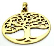 Heavy Solid 9ct Yellow Or Rose Or White Gold Large Tree Of Life Large Pendant