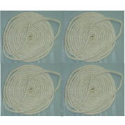 4 Pack Of 5/8 Inch X 25 Ft White Double Braid Nylon Mooring And Docking Lines