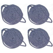 4 Pack Of 5/8 X 30 Ft Navy Blue Double Braid Nylon Mooring And Docking Lines