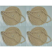 4 Pack Of 3/4 X 50 Ft Gold And White Double Braid Nylon Mooring And Docking Lines