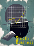 2225. Strictly Business. Art Decoration Poster. Home Graphic Design.