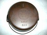 Griswold Eire Slant Logo No. 8 Dutch Oven Cracked Pitted 833 Cast Iron 8 Pot