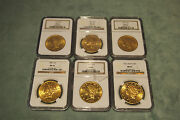 Ngc Ms62 Set Of 6 Liberty 20 Gold Coins Different Yearsprice Is For 1 Only