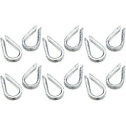 12 Pack Of 1/2 Inch Galvanized Wire Rope Anchor Line Thimbles For Boats