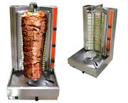 Omcan Br-cn-0191 6000-watt 66-lb Stainless Vertical Gyro And Shawarma Broiler New
