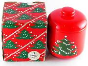 Waechtersbach Christmas Tree Candy Jar And Lid Cookie Container 4 1/2 Orig Box
