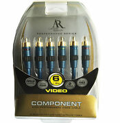 Ar Best Gold Plated Shielded 1080i Hd Rgb Ypbpr Hidef Long Component Video Cable