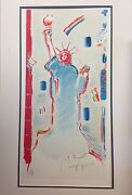 Peter Max Statue Of Liberty Limited Edition Artistand039s Proof