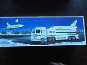 Hess Toy Trucks,truck And Space Shuttle, With Satellite,1999