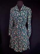 Very Rare Collectorand039s Floral French Vintage 1940and039s Wwii Era Rayon Dress Size 6+