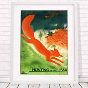 Hunting In Ussr - Vintage Poster Picture Print Sizes A5 To A0 Free Delivery