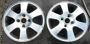 Ford Mondeo 2 Alloy Wheels Pair Rims 6jx15h2 E-49.5 108 4 Hole Two Ii Oem 10993