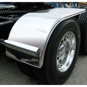 Semi Truck 66 Half Fender W Rolled Edge And Flange Stainless Steel Smooth Pair