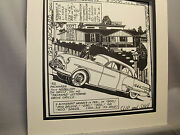 1951 Packard 400 Patrician Auto Pen Ink Hand Drawn Poster Automotive Museum