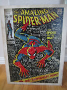 Amazing Spiderman Poster Onto Composite Wood Board - 17 3/4 X 23 1/2 X 1/4