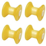 4 Pack 4 Inch Width Boat Trailer Non Marking Molded Rubber Bow Stop Rollers