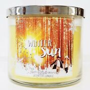 1 Bath And Body Works Winter Sun Large 3 Wick Candle 14.5 Oz New