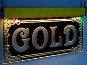 Gold Led Open Signs Animated Pawn 14k Neon Light Silver Diamonds Jewelry Shop