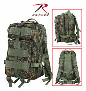 New Rothco 2559 Molle Compatible Woodland Digital Camo Medium Transport Pack