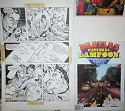 The Beatles Ernie Chan Original Art National Lampoon `77 Mag Included Pencil/ink