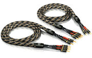 Viablue Sc-4 Silver Series Bi-wire Speaker Cable In Lengths 4 11/12ft -