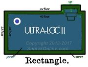 20'x40' 4x8 4' Off-set Right Step Loop-loc Iil Solid Ultra-loc Pool Safety Cover