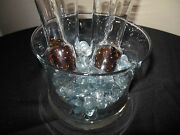 Unique Bar-ware Rare Ice Bucket And 4 Shot Glasses For Chilled Shots 5 Piece