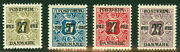 Denmark 138-41 177-80 Surcharged Newspaper Stamps Nh, Scott 840.00