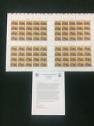 Rw72 Press Sheet Only 100 Produced Xf Nh Rare. Only 40 Survived.