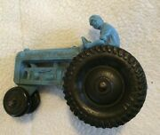 Vintage - Auburn - Rubber Usa Toy Tractor W/ Driver Blue 4 - Allstate Tires