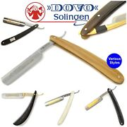 Dovo Cut Throat Straight Razors Shave Barber Gents Various Types Stocked