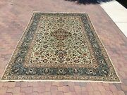 100 Authentic Kashan Rug Made With Natural Colors Very Rare W/ Signature