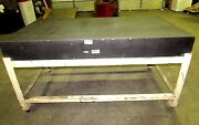 Delta Micro Flat Granite Surface Table Steel Frame 6ft L X 3ft W X 3ft H Xlnt