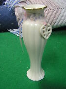 Magnificent Lenox Bud Vase...floral Design Around Neck...with Heart 6+ Height