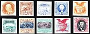 Us 112p4-122p4 And 129p4 1869 Issue Proofs On Card Xf Scv 1015