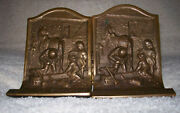 The Village Blacksmith Solid Bronze Bookends Book Ends
