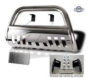 2008-2016 Ford F250 F350 F450 Sd Chrome Push Bull Bar In Stainless Steel Bumper