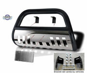 2002-2012 Jeep Liberty Classic Bull Bar In Black With Stainless Steel Skid