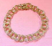 Old Stock 22.70gr Bracelet 14k Solid Yellow Gold 7 And 3/4 Inch Long Bskais