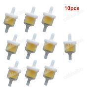10x Inline Magnet Petrol Gas Fuel Oil Cleaner Filter For Pit Dirt Bike Motocycle